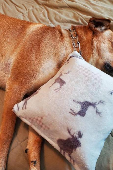 Snugglehead Dog Pillow Cover for dogs, Super soft, fleece, flannel, dog